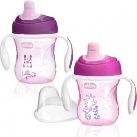 Chicco vaso de entrenamiento rosa +6M 200 ml