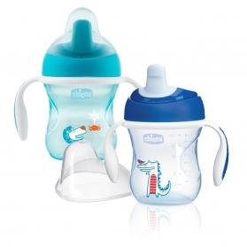 Chicco vaso de entrenamiento azul +6M 200 ml