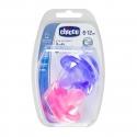 Chicco Physio Soft chupete de silicona rosa 6-12M 2 uds