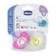 Chicco Physio Air chupete de silicona rosa +12M 2 uds