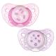 Chicco Physio Air chupete de látex anatómico rosa +0M 2 uds