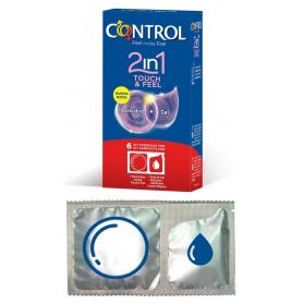 Control 2 en 1 Touch&Feel 6 preservativos + 6 lubricantes monodosis