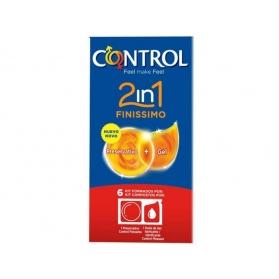 Control 2 en 1 Finisimmo 6 preservativos + 6 lubricantes monodosis
