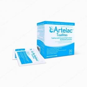 Artelac toallitas estériles para limpieza de párpados y pestañas 20 uds