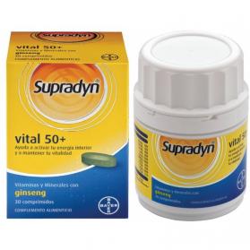 Supradyn Activo Vital 50+ multivitamínico 30 comprimidos