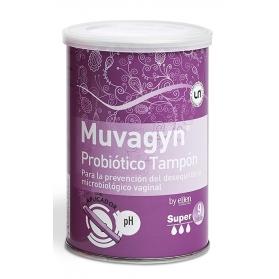 Muvagyn Probiótico tampón Súper con aplicador 9uds con Probióticos