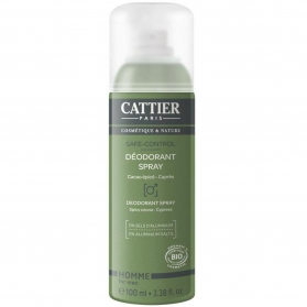 Cattier Hombre desodorante en spray 100 ml CAT103 con Aloe Vera