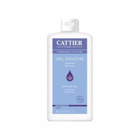 Cattier gel de ducha Tonificante 1000 ml CAT076 con Lavanda y Romero