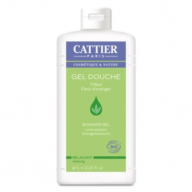 Cattier gel de ducha Relajante 1000 ml CAT075 con Tilo y Azahar