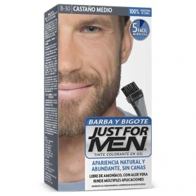 Just for Men tinte para barba y patillas Castaño Medio Natural
