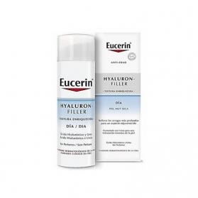 Eucerin Hyaluron Filler textura enriquecida crema antiarrugas de día 50 ml