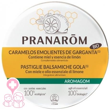 Pranarom Aromagom caramelos emolientes BIO Miel y Limón 45 gr