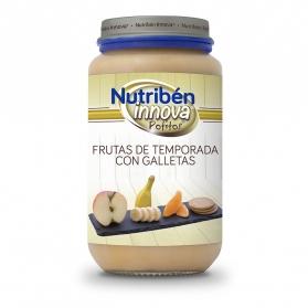Nutribén innova frutas de temporada con galleta  potito 250 g