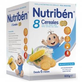Nutribén papilla 8 cereales con galletas María 600 gr