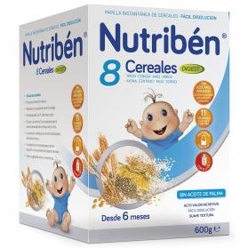 Nutribén papilla 8 cereales Digest 600 gr