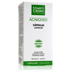 Martiderm acniover 60 cápsulas con prebióticos y lactobacillus