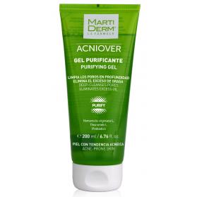 Martiderm acniover gel purificante 200 ml con hamamelis y prebióticos