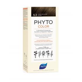 Phyto Color 5.3 Castaño Claro Dorado tinte para cabello con Extractos Vegetales