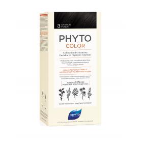 PhytoColor 3 Castaño Oscuro tinte todo tipo de cabellos
