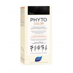 Phyto Color 1 Negro tinte para cabello con Extractos Vegetales