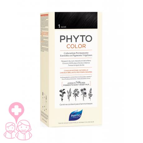 Phyto Negro Tinte Para 1 Cabello Con Color Vegetales Extractos BrxdeoC