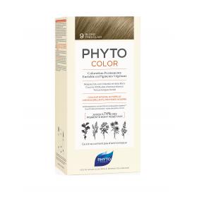 Phyto color 9 rubio muy claro tinte para cabello con extractos vegetales