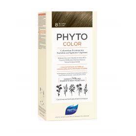 Phyto color 8 rubio claro tinte para cabello con extractos vegetales
