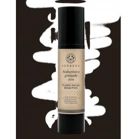 Herbera biocosmética crema hidratante antiarrugas ácido hialurónico, granada y uva 50 ml