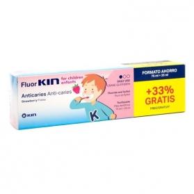 Fluor Kin Infantil pasta dental 75 ml + 25ml GRATIS con Flúor y Xylitol