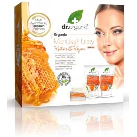 Dr organic cofre manuka honey crema rescate 50 ml + crema manos 125 ml + crema de pies 125 ml