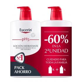 Eucerin family pack duplo loción hidratante corporal 2x1000ml