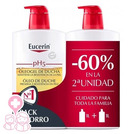 Eucerin family pack duplo oleogel de baño 2x1000 ml