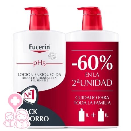 Eucerin family pack duplo loción enriquecida hidratante corporal 2x1000ml