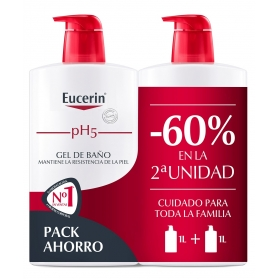 Eucerin family pack duplo gel de baño 2x1000 ml