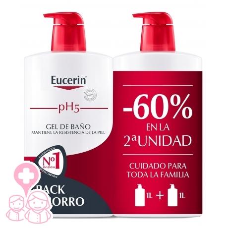 Eucerin family pack duplo gel de baño 2x1000 ml