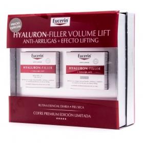 Eucerin COFRE Hyaluron-filler Volume Lift crema de día SPF 15 50 ml + crema de noche 50 ml
