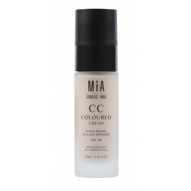 Mia cosmetics cc cream spf30 tono light 30 ml con esferas de hialurónico
