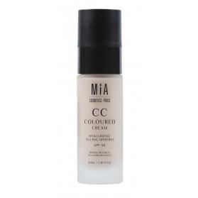 Mia cosmetics cc cream spf30 tono light 30 ml con esferas de hialurónico