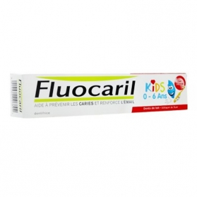 Fluocaril Kids gel sabor fresa 0-6 años 50 ml