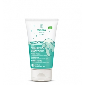 Weleda Kids 2 in 1 champú-gel de ducha Menta Fresca 150 ml