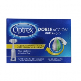 Optrex doble acción colirio picor ojos 20 monodosis