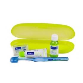 Vitis orthodontic pack cepillo ortodoncia cera + pasta 15 ml + colutorio 30 ml