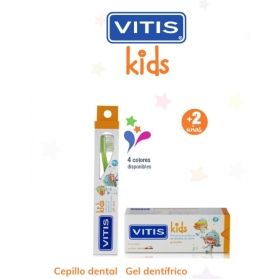 Vitis kids pack gel dentífrico + cepillo + gadget  50 ml