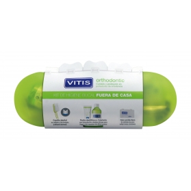Vitis orthodontic pack cepillo ortodoncia cera + pasta 15 ml + colutorio 30 ml