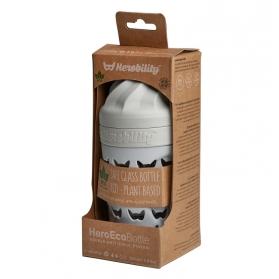 Herobility hero eco bottle biberón de cristal gris niebla 220 ml