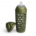 Herobility hero eco bottle biberón de cristal verde bosque 320 ml