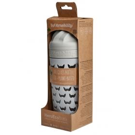 Herobility hero eco bottle biberón de cristal gris niebla 320 ml