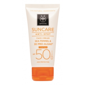 Apivita suncare crema antimanchas color spf50 50ml