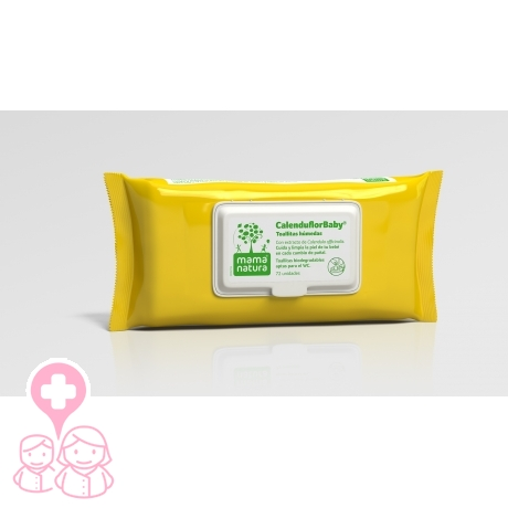 Mama Natura Calenduflor Baby toallitas húmedas extra suaves con Caléndula 72 uds