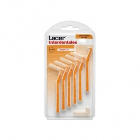 Lacer cepillo interdental suave angular 6uds